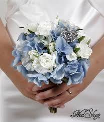 Bildresultat för blå brudbukett juli