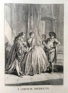 L'amour médecin - Molière - gravé par Laurent CARS d'après François BOUCHER - MAS Estampes Anciennes - Antique Prints since 1898