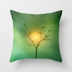 emerald minimalism Throw Pillow by Viviana González - $20.00