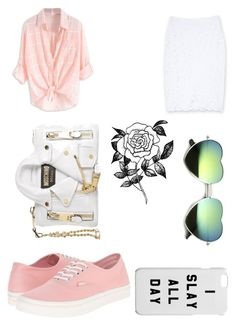 """""""Shmur"""" by mag11rich on Polyvore featuring Bebe, Vans, Moschino and Forever 21"""