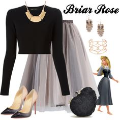 Briar Rose by violetvd on Polyvore featuring Proenza Schouler, Chicwish, Christian Louboutin, Full Tilt and Alexis Bittar