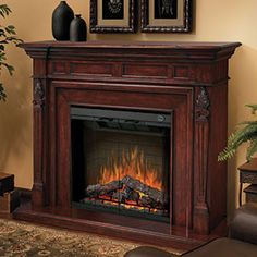 Artesian Infrared Electric Fireplace Mantel Package In