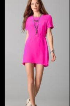 solid pink dress