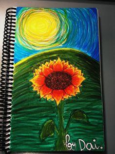 Girasol - 12/06/2012. Trabajo final. Cosas que hago en papel para relajarme.