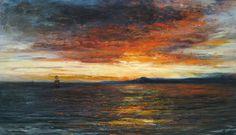 John MacWhirter (1839-1911), Sunset on the Isle of Skye - 1875