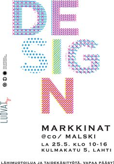 co/ Malskin designmarkkinat järjestetään jälleen la 25.5. klo 10-16. Markkinoilta löydät mm. taidelasia, hopea- ja lasikoruja sekä taidegrafiikkaa kaikki mainioita lahjoja valmistujille! Lisäinfoa osoitteesta http://www.comalski.fi/artikkelit/designmarkkinat-25-5/ Tervetuloa! Jos haluat myydä omia tuotteitasi markkinoilla, ota yhteyttä meihin (janika.salonen@luovat.fi) ja varaa oma myyntipaikkasi kiireesti. Paikkoja on vielä jäljellä.