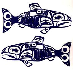 Salmon Decal- Tsimshian