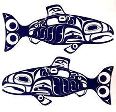 Salmon Decal- Tsimshian