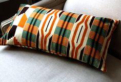 Kente Home Style Lumbar pillow cover  12 x 22 by SISTERBATIK