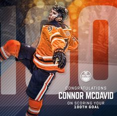 Congratulations to our Captain! Growth Company, Connor Mcdavid, Nhl Players, Edmonton Oilers, Ice Hockey, Cool Photos, Sports, Congratulations, Game