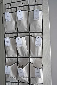 """Awesome idea to turn your closet into an """"office"""" from Elizabeth Joan Designs"""