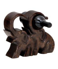 Wood Elephant Wine Holder