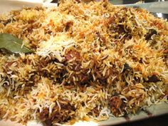 Sindhi Biryani from Pakistan.from scratch! you can also substitute this with the Shaan sindhi biryani packet, and add potatoes etc the same way. I usually use 2 packets to make it extra spicy, and i make about 6 cups of rice to layer it with! Rice Recipes, Indian Food Recipes, Chicken Recipes, Cooking Recipes, Ethnic Recipes, Indian Foods, Pasta Recipes, Pakistani Dishes, Indian Dishes