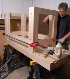 Teds Woodworking® - Woodworking Plans & Projects With Videos - Custom Carpentry Outdoor Furniture Plans, Woodworking Furniture Plans, Wood Furniture, Woodworking Ideas, Workbench Plans, Woodworking Workbench, Fine Woodworking, Bois Diy, Garage Workshop