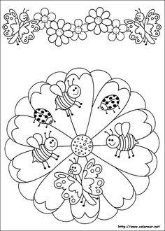 Dibujos de Mandalas para colorear en Colorear.