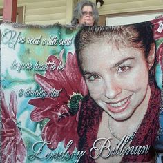 Memorial blanket created using a floral backdrop..