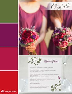 Olive Green, Sangria, Wine, and Classic Red Fall Wedding Color Palette | Wedding Color Trends | MagnetStreet Weddings