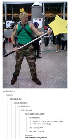 And this guy wins the award for best cosplay