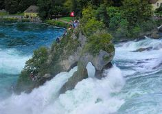Rhine Falls, Schauffenhausen, Switzerland. Largest waterfalls in Europe.