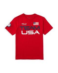 Ralph Lauren Childrenswear Boys' Team Usa Tee - Sizes S-xl