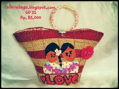 love is everywhere... love...love..love... it's made from natural fibers,, eilenebags.blogspot.com