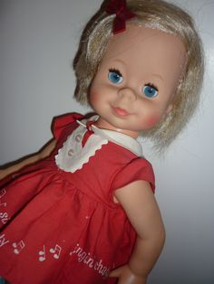 SOLD - Mattel Singin' Chatty Doll, from 1965, for sale in my shop http://www.rubylane.com/shop/doll-lighted