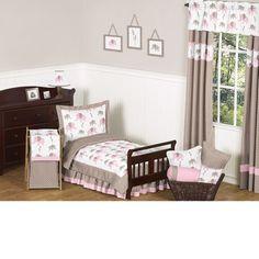 Pink Elephant 5-Piece #Toddler #Bedding Set by JoJo Designs TinyTotties.com