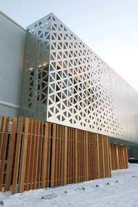 Ichii Renovation | Triangular Parametric Grid. This facade shows us how the industrial can meet the modern in a stylish and balanced aesthetic.