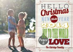 Hello Christmas Christmas Card $12  Photo Credit: http://charisrowlandphotography.com