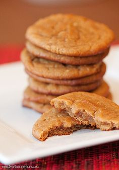 Peanut Butter Pie Cookies (Grain Free  No Refined Sugars): 1 cup peanut butter 8 oz cream cheese  softened 1/2 cup honey 1 tsp vanilla 1/4 tsp sea salt 1/2 tsp baking soda 1 egg.