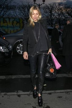 Kate Moss arrives at the 'Meurice' hotel in paris  http://www.graziadaily.co.uk/fashion/news/kate-moss-cara-delevingne-burberry-london-fashion-week