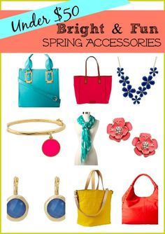 Bright & Fun Spring Acccessories, All Under $50 --> LOVE the springtime brights, @Whitney Wingerd - Mommies with Style