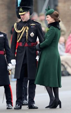 Kate Middleton Photos - Catherine, Duchess of Cambridge and Prince William, Duke Of Cambridge attend the annual Irish Guards St Patrick's Day Parade at Cavalry Barracks on March 17, 2018 in Hounslow, England. - The Duke And Duchess Of Cambridge Attend The Irish Guards St Patrick's Day Parade