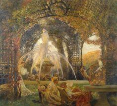 Gaston La Touche - The Arbor, 1906