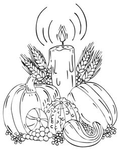 Fall Harvest Coloring Pages Autumn Page Free Printable