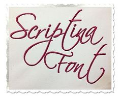 Scriptina Machine Embroidery Font Alphabet
