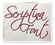 Scriptina Machine Embroidery Font Alphabet