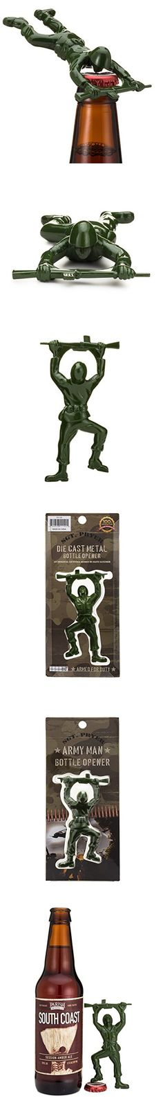 Sgt. Pryer Green Army Man Bottle Opener, Fun Unique Gifts for Men - Cool Beer Gifts
