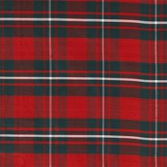 MacGregor Red (Modern Colours) Tartan - Silk Fabric