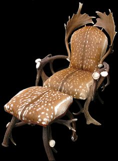 antler chair and ottoman