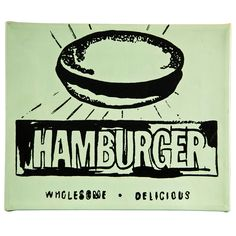 """Andy Warhol """"Hamburger"""" 1986 