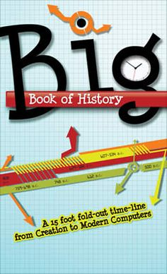 Big Book of History: Hardcover: A 15 foot fold-out time-line from Creation to Modern Computers --Learning just became big fun! Families, schools, and churches can unfold 15 feet of the most interesting history of the world. Days Of Creation, History Teachers, History Class, Teaching History, Family History, Teaching Kids, History Timeline, Important Facts, Homeschool Curriculum
