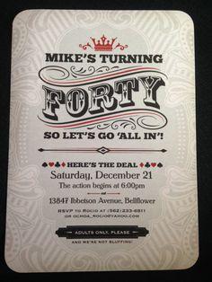 Great Casino Night Invitation!!