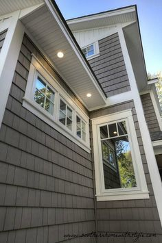 Lighting on the exterior of your home. Exterior soffit ideas! Check out our tips for building your home!