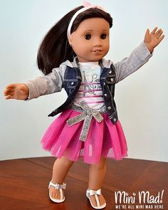 I like trying to make my dolls look like they're twirling.  #americangirldoll #americangirlbrand #trulyme62 #agig
