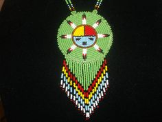 native american necklace Zuni Sun God necklace by deancouchie