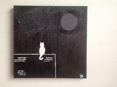 tela acrilico pittura gatto su una parete di mybeautifulmonster