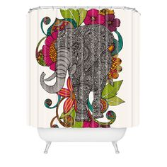 Valentina Ramos Ruby The Elephant Shower Curtain   DENY Designs Home Accessories