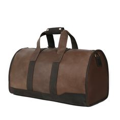 125.95$  Know more  - ROCKCOW Genuine Leather Travel Bag Men's Leather Luggage Travel Bag Duffle Bag Weekender Bag DZ03