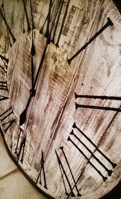 30 Wall Clock Reclaimed wood by GreenLionCreations on Etsy, $75.00
